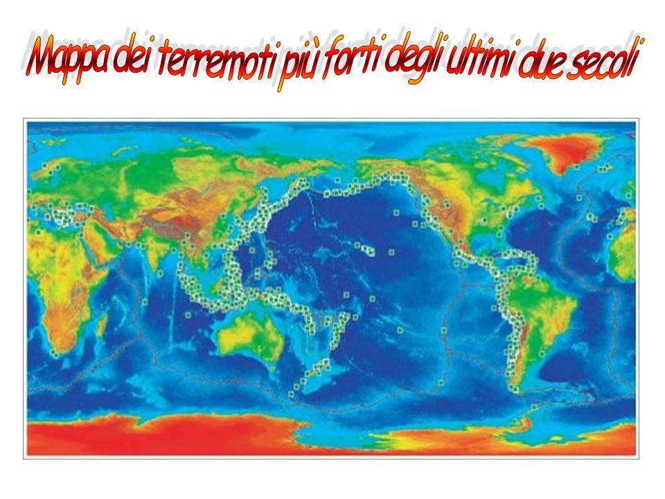 Mappa dei terremoti più forti degli ultimi due secoli