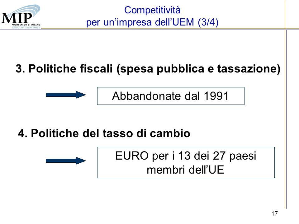 3. Politiche fiscali (spesa pubblica e tassazione)
