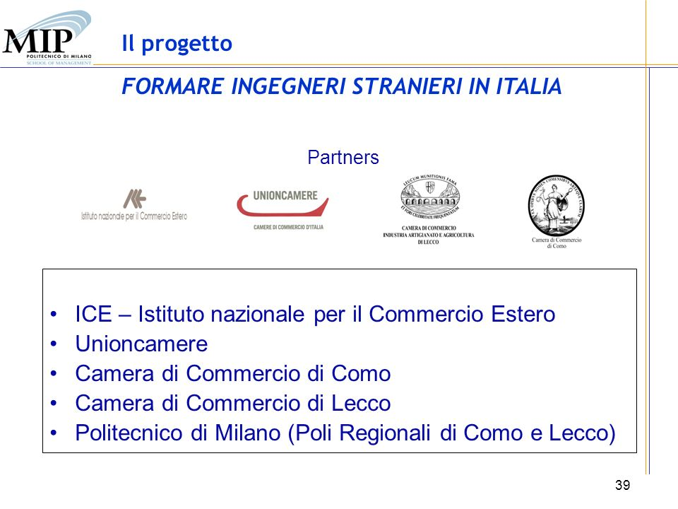 FORMARE INGEGNERI STRANIERI IN ITALIA