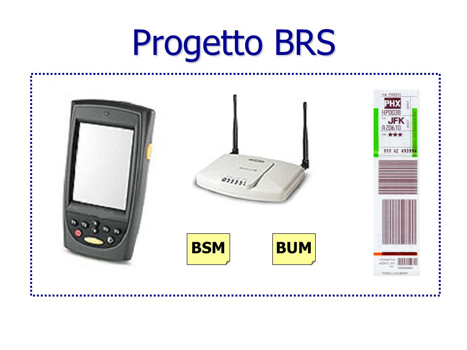 Progetto BRS BSM BUM BSM = BAGGAGE SOURCE MESSAGE.