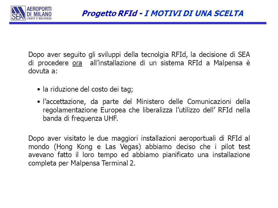Progetto RFId - I MOTIVI DI UNA SCELTA