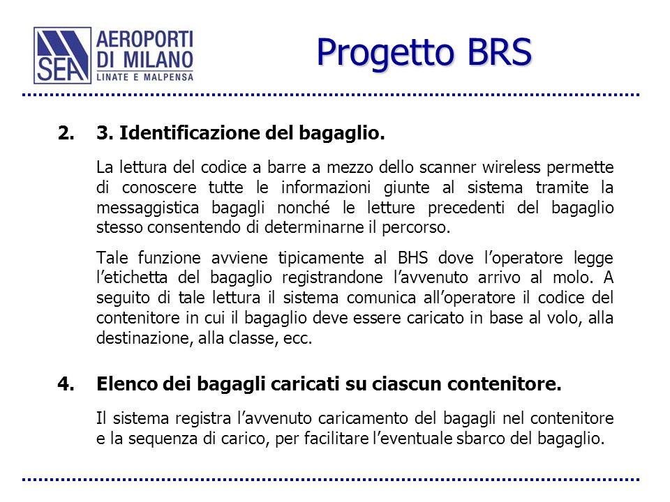Progetto BRS 3. Identificazione del bagaglio.