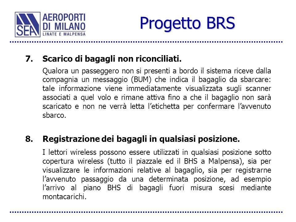 Progetto BRS Scarico di bagagli non riconciliati.