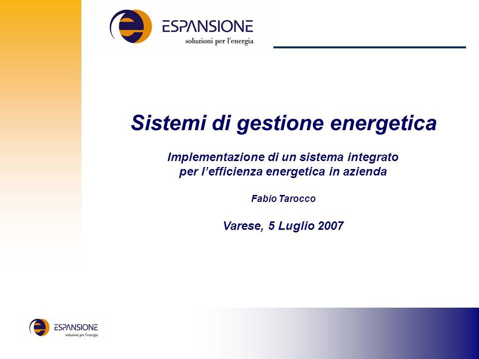 Sistemi di gestione energetica