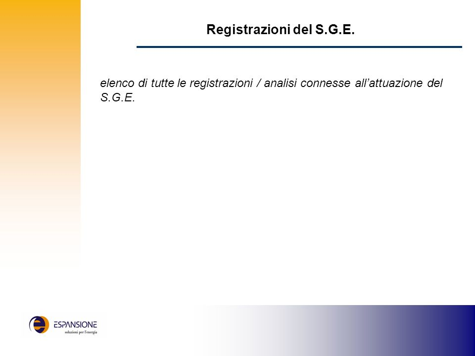 Registrazioni del S.G.E.