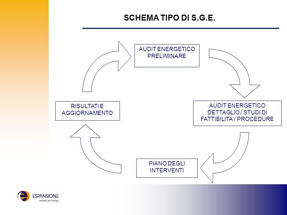 SCHEMA TIPO DI S.G.E. AUDIT ENERGETICO PRELIMINARE