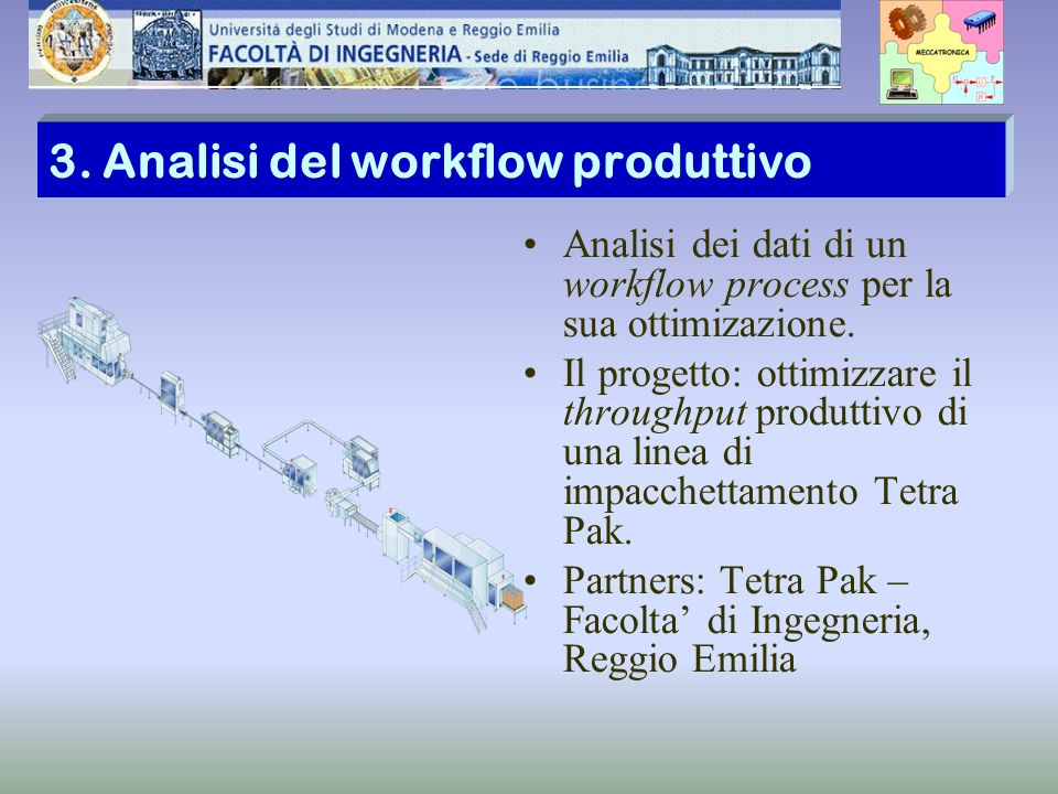 3. Analisi del workflow produttivo