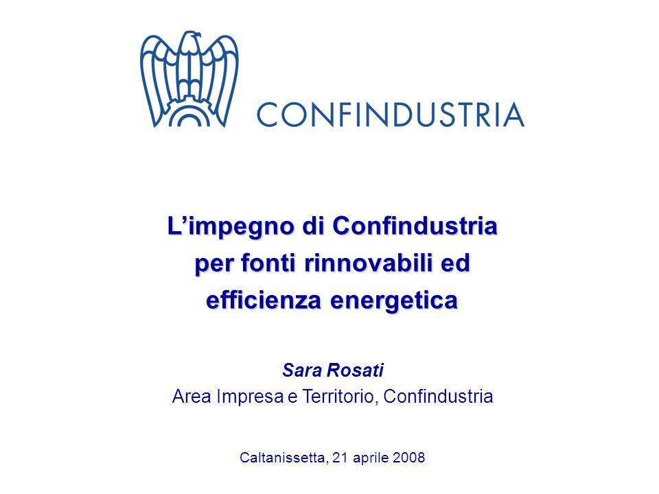 L'impegno di Confindustria per fonti rinnovabili ed