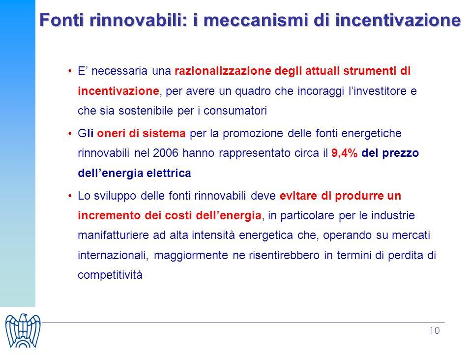 Fonti rinnovabili: i meccanismi di incentivazione