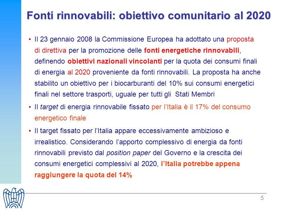 Fonti rinnovabili: obiettivo comunitario al 2020