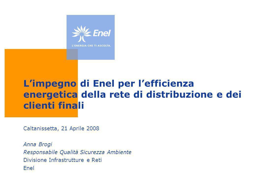 L'impegno di Enel per l'efficienza energetica della rete di distribuzione e dei clienti finali