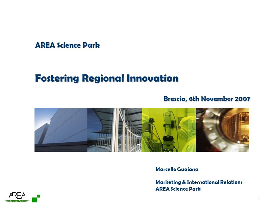 Fostering Regional Innovation