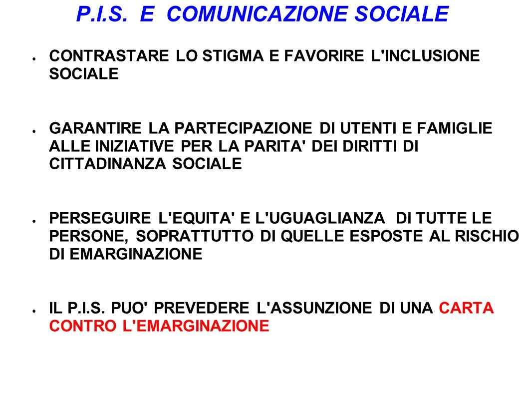 P.I.S. E COMUNICAZIONE SOCIALE