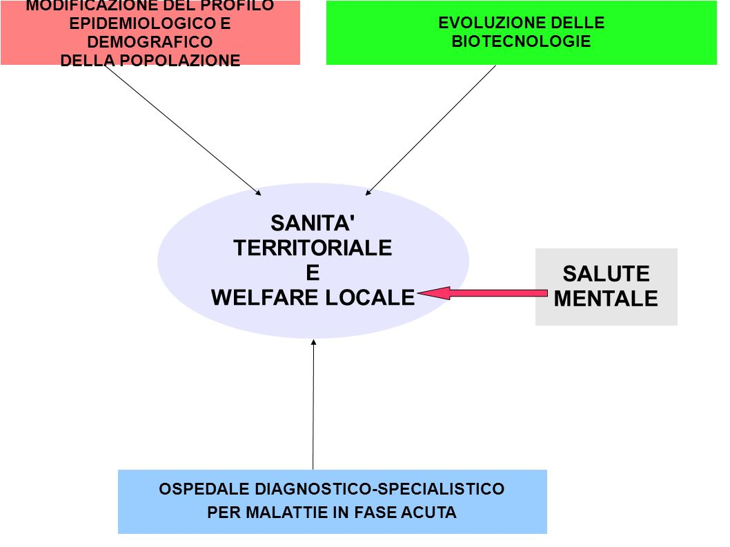 SANITA TERRITORIALE E WELFARE LOCALE SALUTE MENTALE