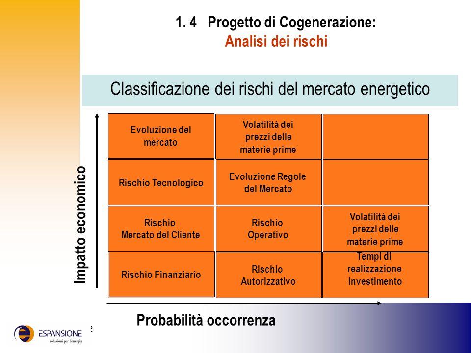 1. 4 Progetto di Cogenerazione: Analisi dei rischi