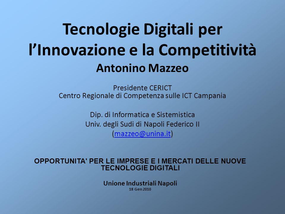 Tecnologie Digitali per l'Innovazione e la Competitività Antonino Mazzeo