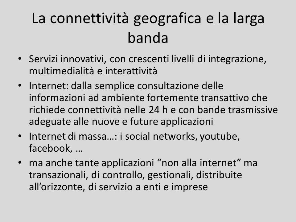 La connettività geografica e la larga banda