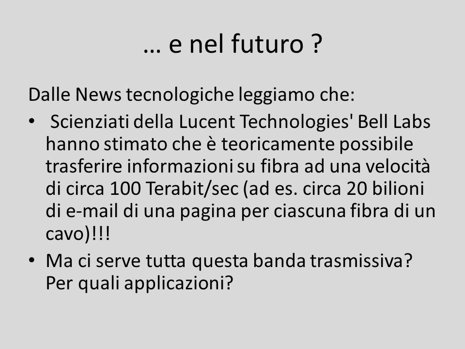… e nel futuro Dalle News tecnologiche leggiamo che: