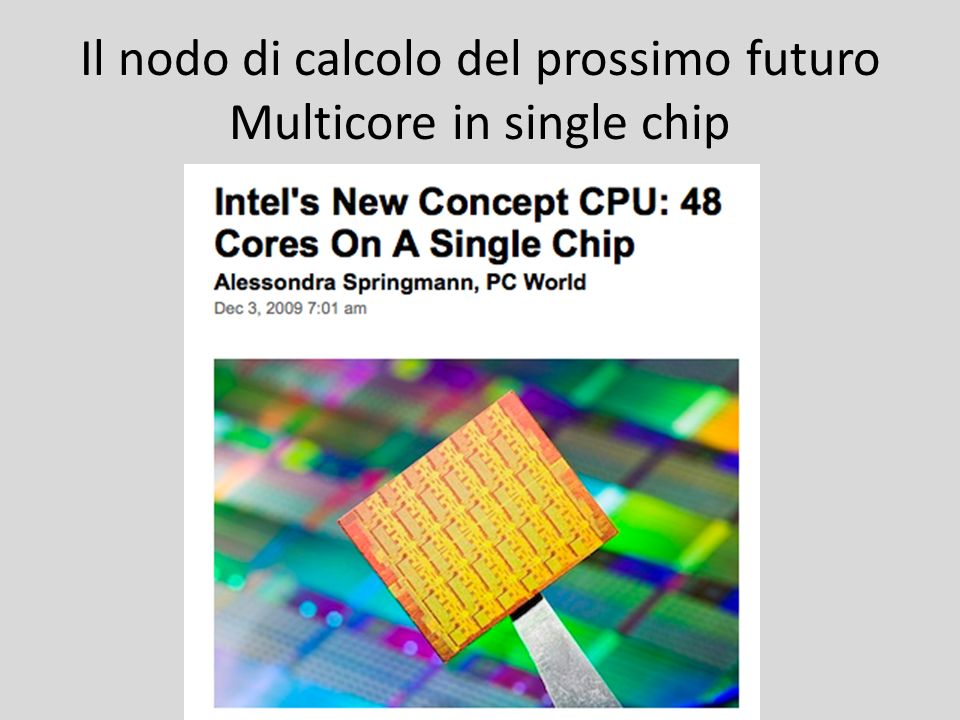 Il nodo di calcolo del prossimo futuro Multicore in single chip