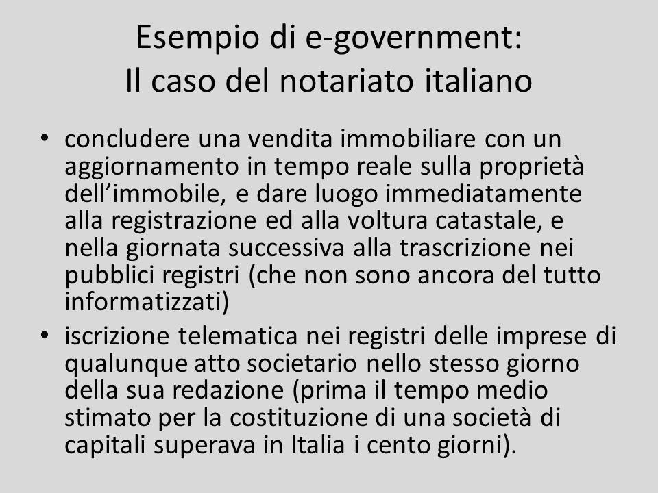 Esempio di e-government: Il caso del notariato italiano