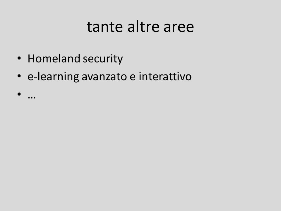 tante altre aree Homeland security e-learning avanzato e interattivo …