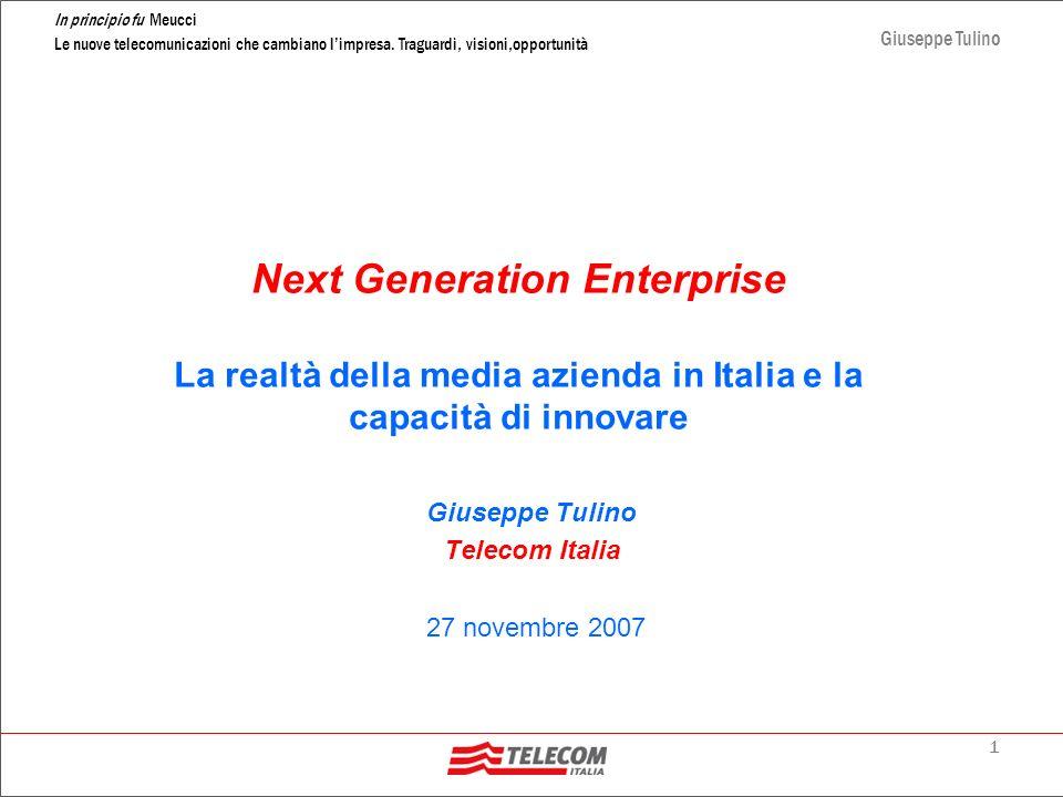 Giuseppe Tulino Telecom Italia 27 novembre 2007