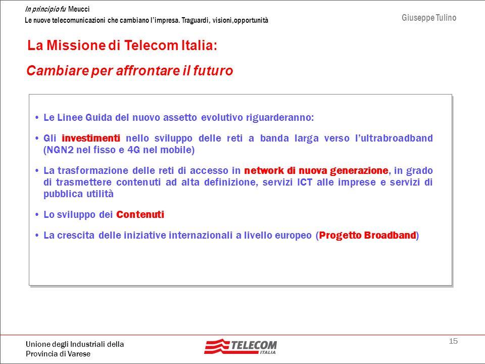 La Missione di Telecom Italia:
