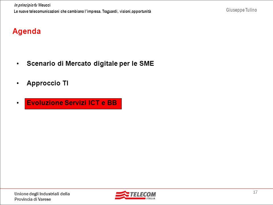 Agenda Scenario di Mercato digitale per le SME Approccio TI