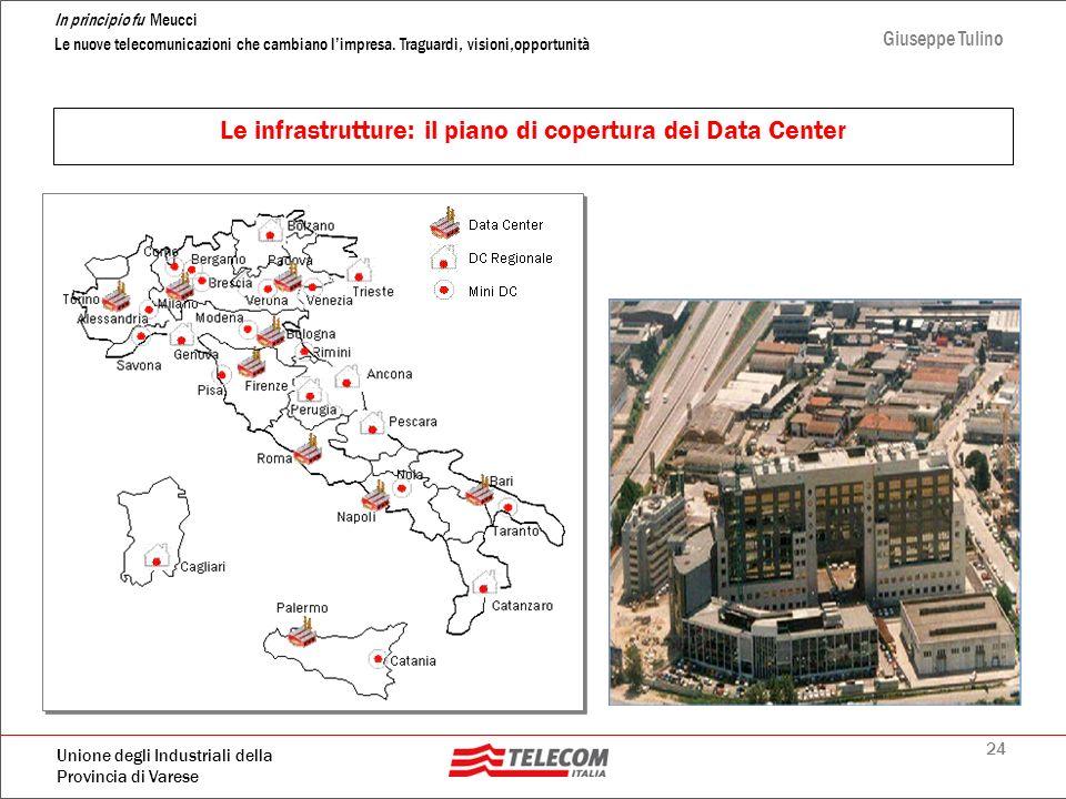 Le infrastrutture: il piano di copertura dei Data Center