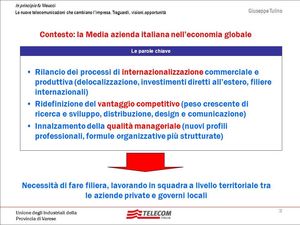 Contesto: la Media azienda italiana nell'economia globale