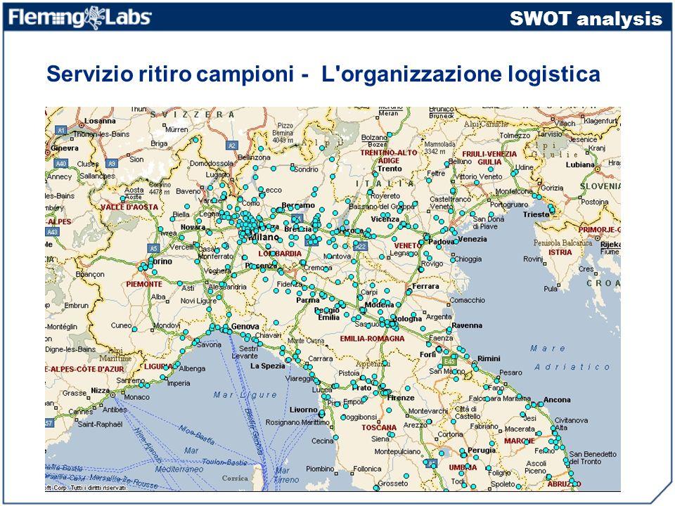 Servizio ritiro campioni - L organizzazione logistica