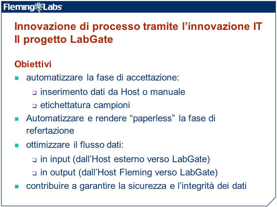 Innovazione di processo tramite l'innovazione IT Il progetto LabGate