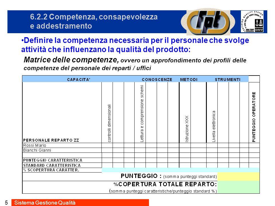 6.2.2 Competenza, consapevolezza e addestramento