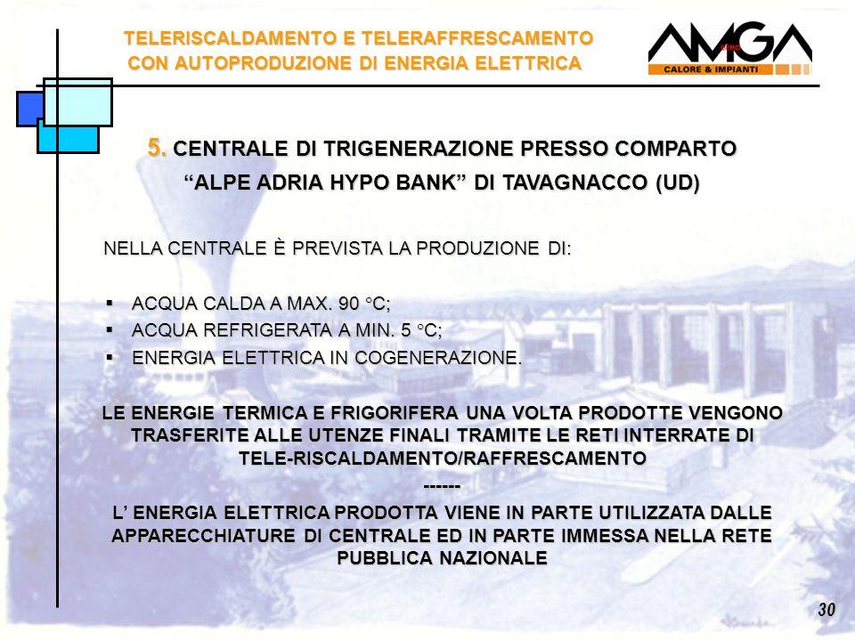 5. CENTRALE DI TRIGENERAZIONE PRESSO COMPARTO