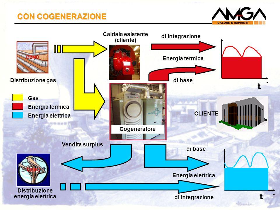 Caldaia esistente (cliente) Distribuzione energia elettrica
