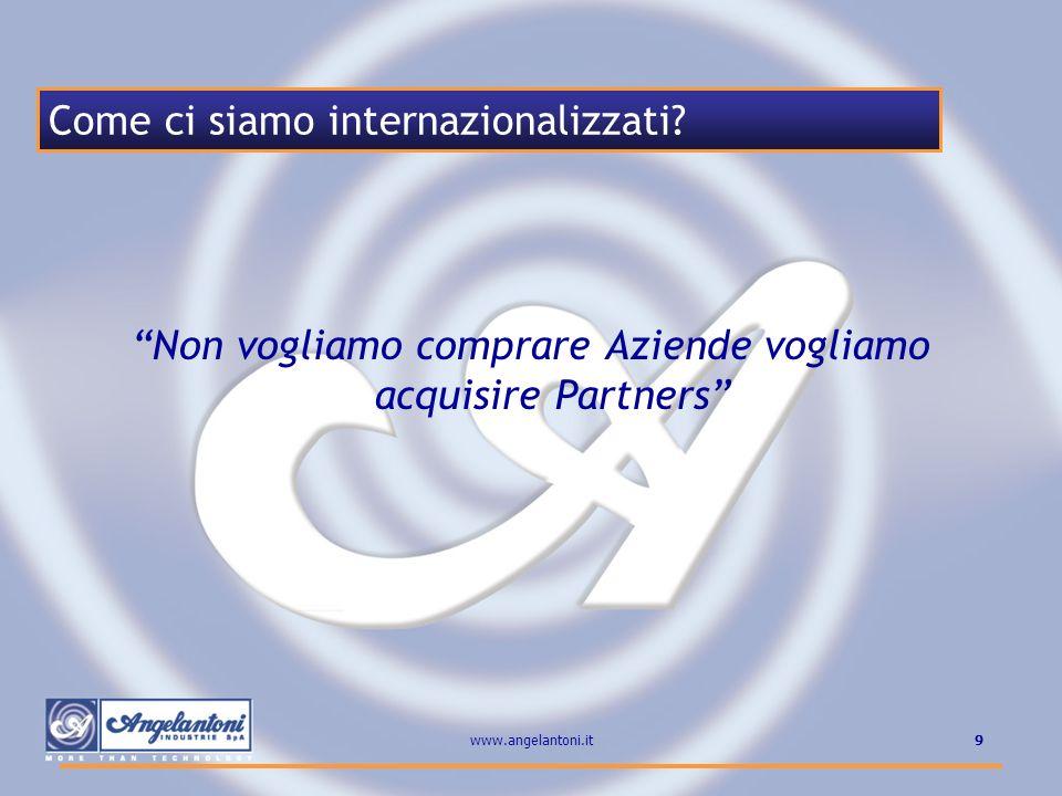 Non vogliamo comprare Aziende vogliamo acquisire Partners