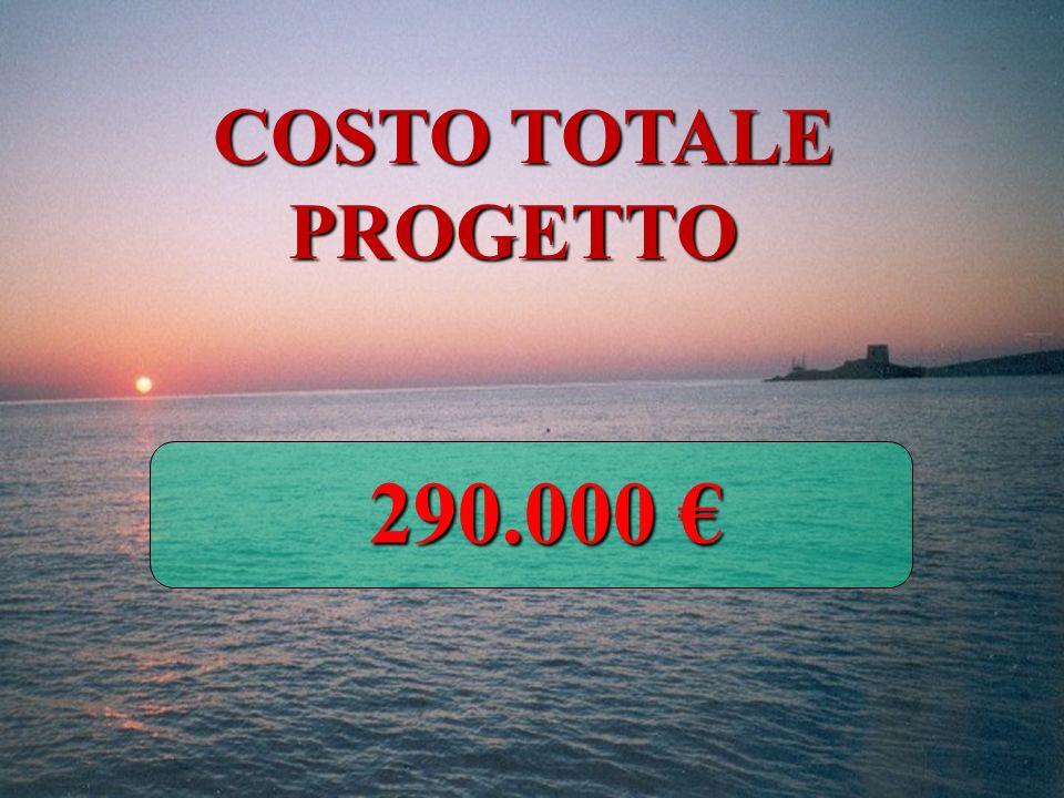 COSTO TOTALE PROGETTO 290.000 €