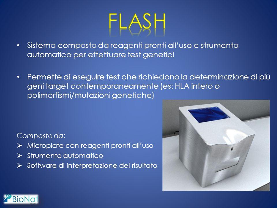 FLASH Sistema composto da reagenti pronti all'uso e strumento automatico per effettuare test genetici.