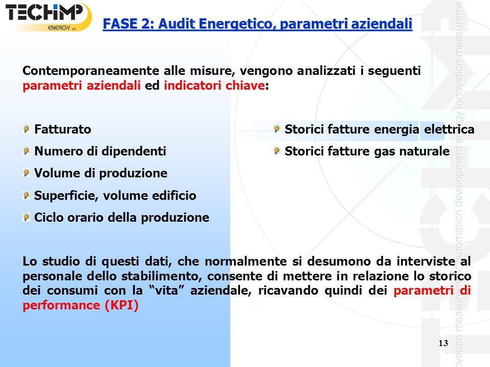 FASE 2: Audit Energetico, parametri aziendali