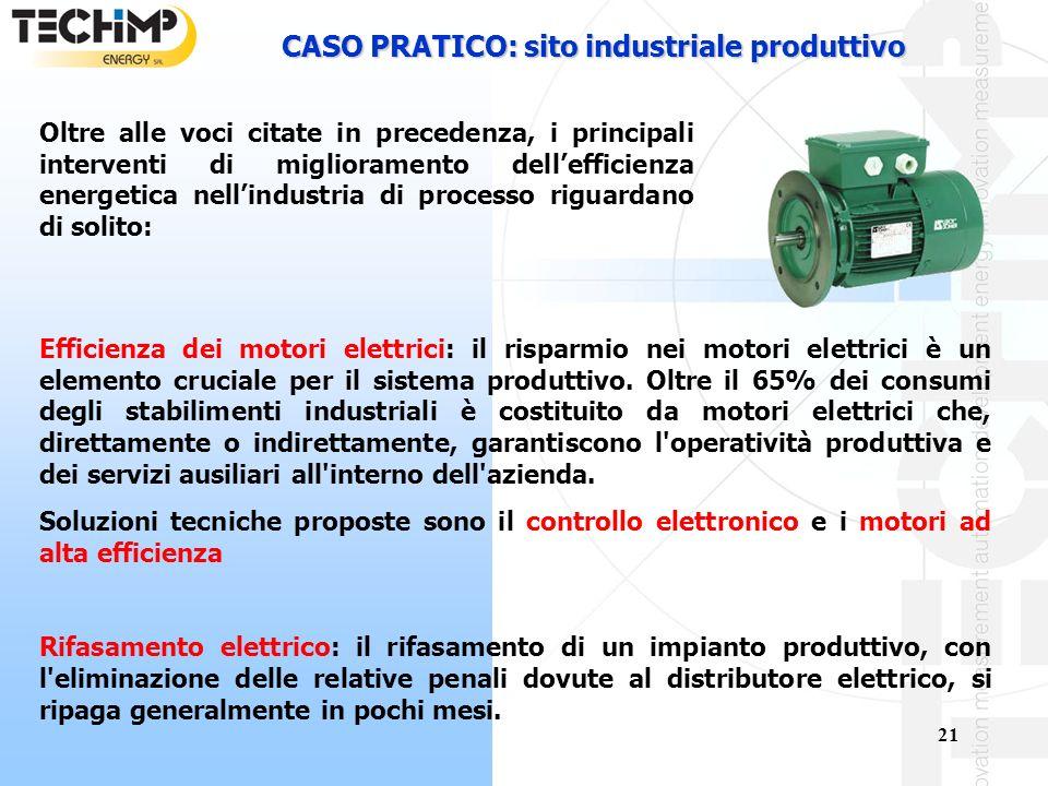 CASO PRATICO: sito industriale produttivo