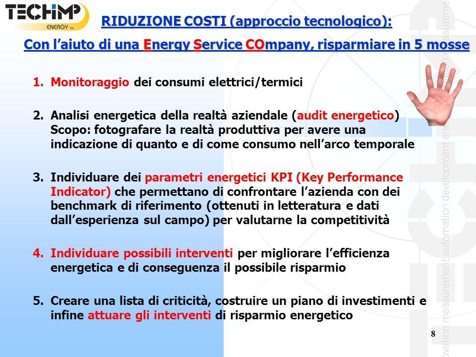 RIDUZIONE COSTI (approccio tecnologico):