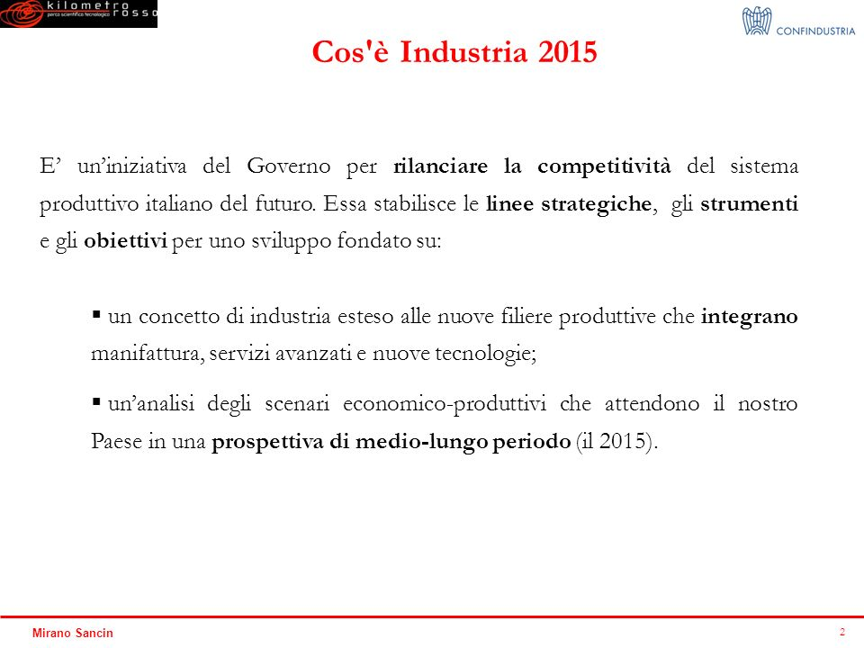 Cos è Industria 2015