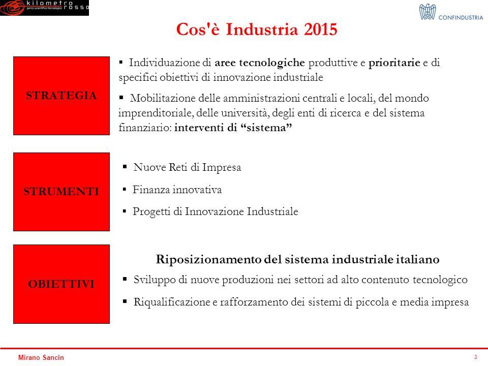 Riposizionamento del sistema industriale italiano