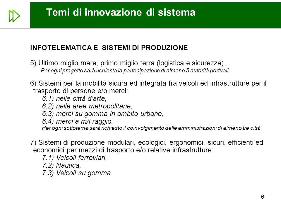 Temi di innovazione di sistema