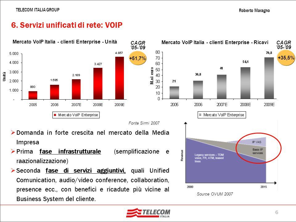 6. Servizi unificati di rete: VOIP