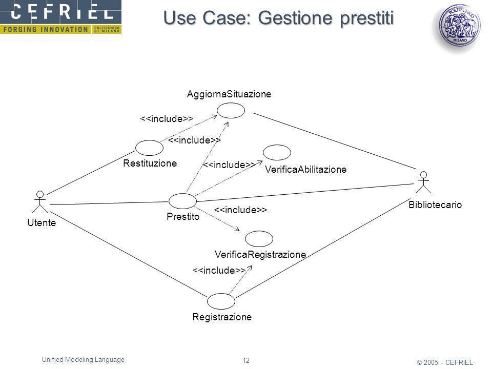 Use Case: Gestione prestiti