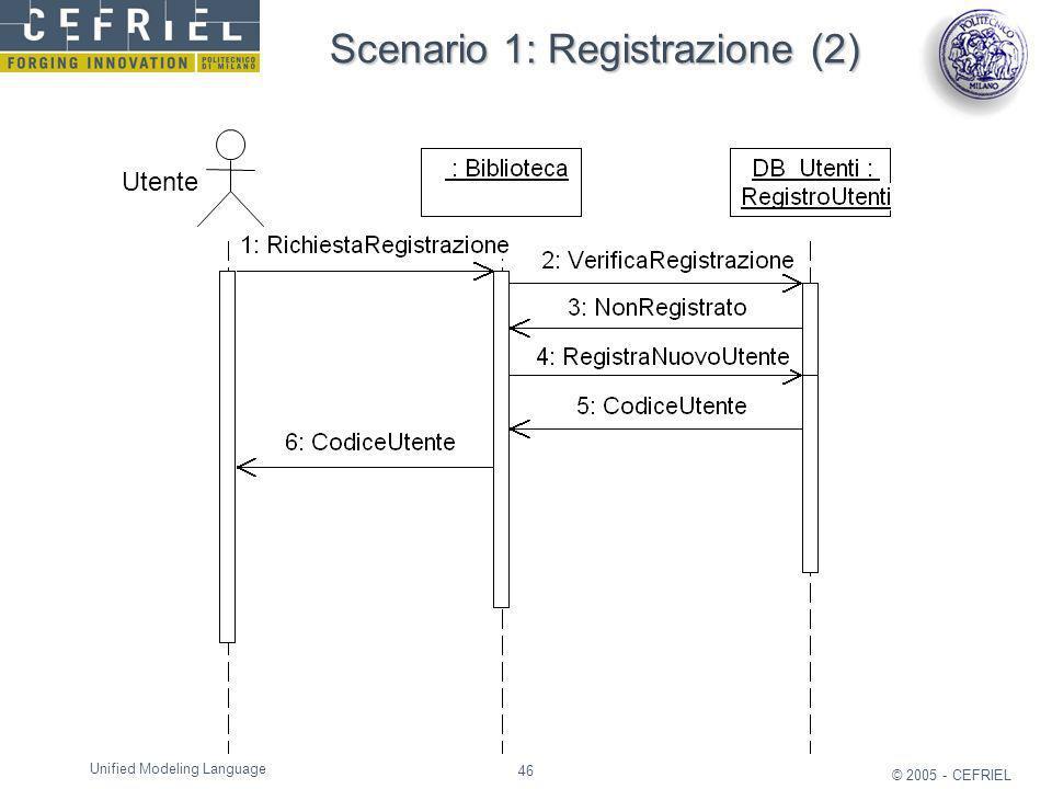Scenario 1: Registrazione (2)