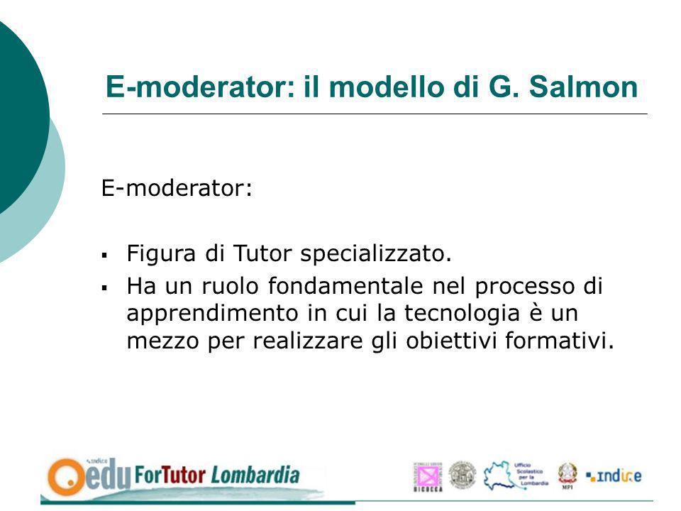 E-moderator: il modello di G. Salmon