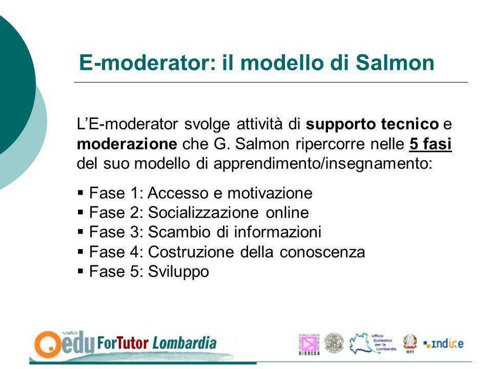 E-moderator: il modello di Salmon