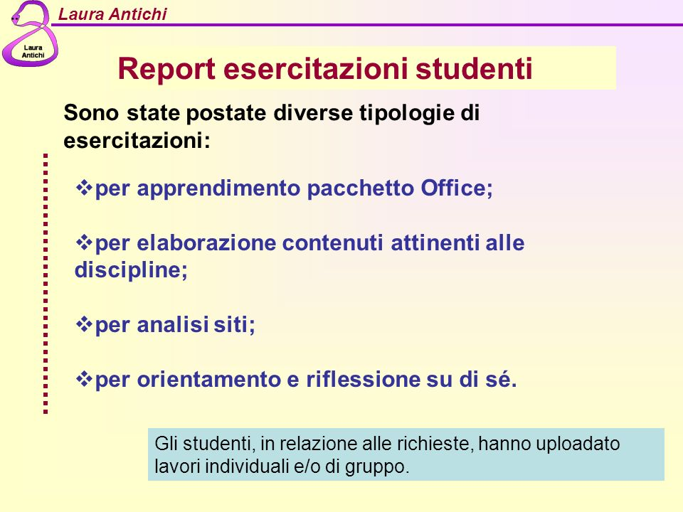 Report esercitazioni studenti